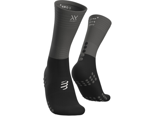 Compressport Calze A Compressione Media, black/grey